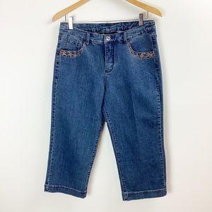 Christine Alexander Embellished Cropped Jeans